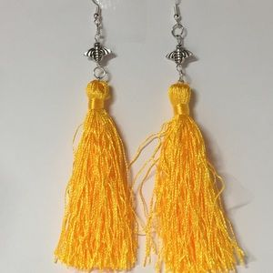 NWT Gold Bumblebee Tassel Earrings